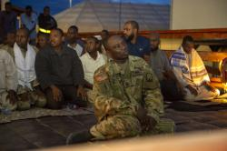 Iftar service at Camp Lemonnier