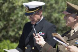 Marines and Sailors join Italians to Honor Fallen WWII Allies.