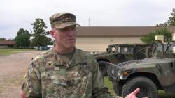 Oklahoma Guard chaplain baptizes Soldiers during Western Strike