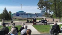 F-86H Static Display Dedication Ceremony at Otis ANGB, Mass. (Part 1 of 2)