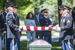 Military Funeral Honors for U.S. Army Air Forces 1st Lt. Howard Lurcott in Section 3 of Arlington National Cemetery