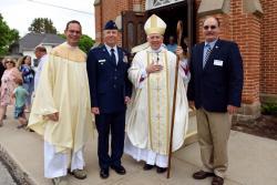 Bishop Receives Patriot Award