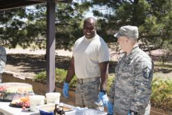 50th SW Chaplains serve food, support resiliency