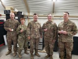 MG Walker Visits the 450th Transportation Battalion