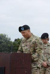 39th Signal Battalion's Change of Company Command