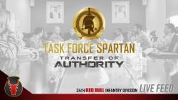 Red Bull and Cyclone Soldiers Transfer Authority of Task Force Spartan